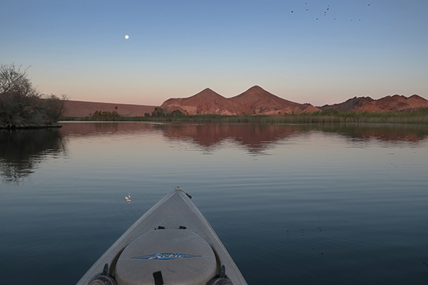 Just before sunrise on the last watermanatwork.com kayak fishing trip of 2020