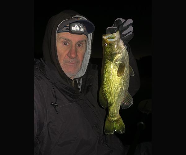Colorado River largemouth bass caught at night by watermanatwork.com kayak fisherman Ron Barbish