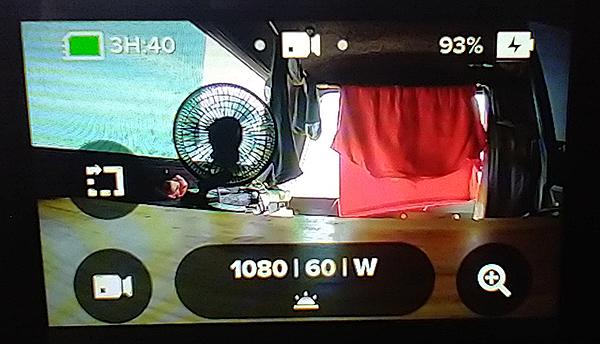 GoPro Hero 7 Black maximum battery charge 93%