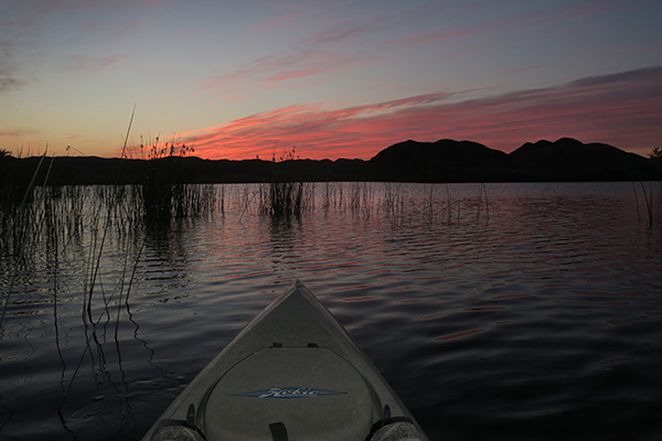 Just before sunrise on the Colorado River