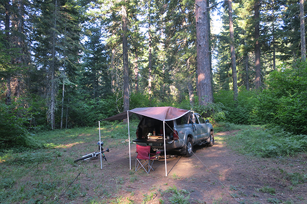 MTB Camp in the hot Cascade Mountains 7-1-21