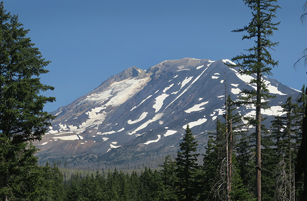 Melting glaciers on the slopes of Mt. Adams